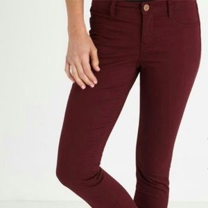 Burgundy Cotton On Mid Rise Jeggings EUC